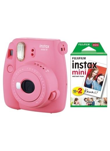 Fujifilm Instax Mini 9 Pembe Fotoğraf Makinesi & 20'li Film Pembe